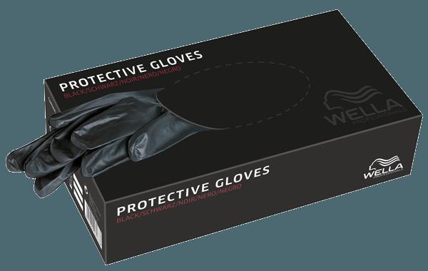 Wella Färbe-Handschuhe Schwarz M