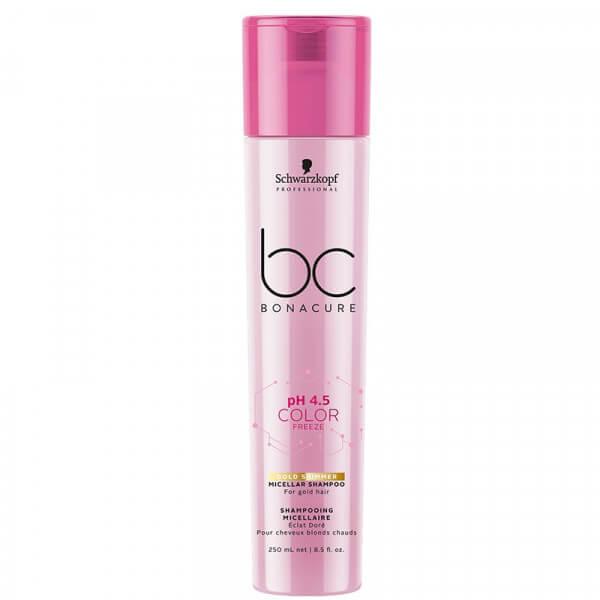 Schwarzkopf BC pH 4.5 Color Freeze Gold Shimmer Micellar Shampoo
