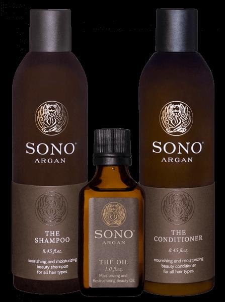 Sono Argan Shampoo & Conditioner & Oil Set maxi