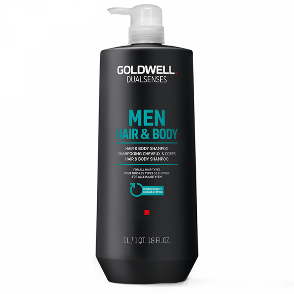 Men Hair & Body Shampoo - 1000ml - Goldwell