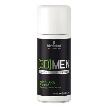 Schwarzkopf [3D] MEN Hair & Body Shampoo MINI (50ml)