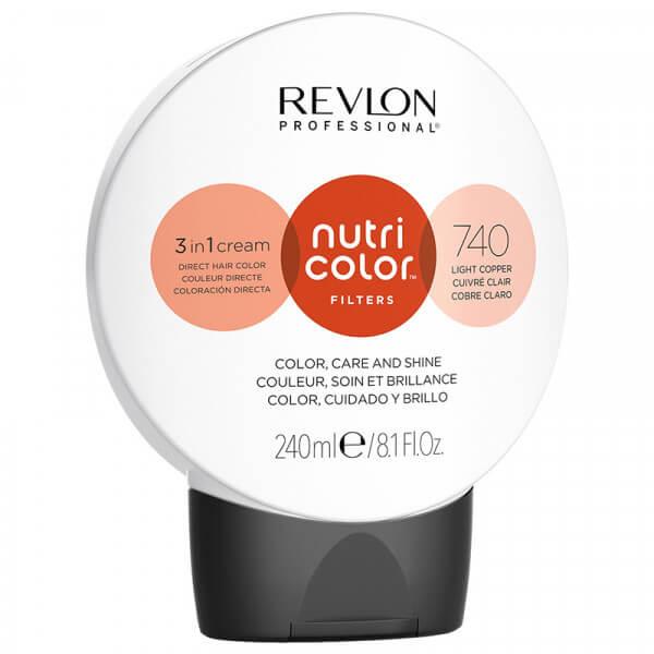 Revlon Nutri Color Creme 740 Light Copper - 240ml