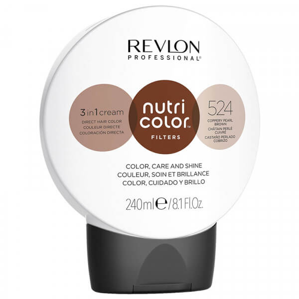 Revlon Nutri Color Creme 524 Coppery Pearl Brown - 240ml
