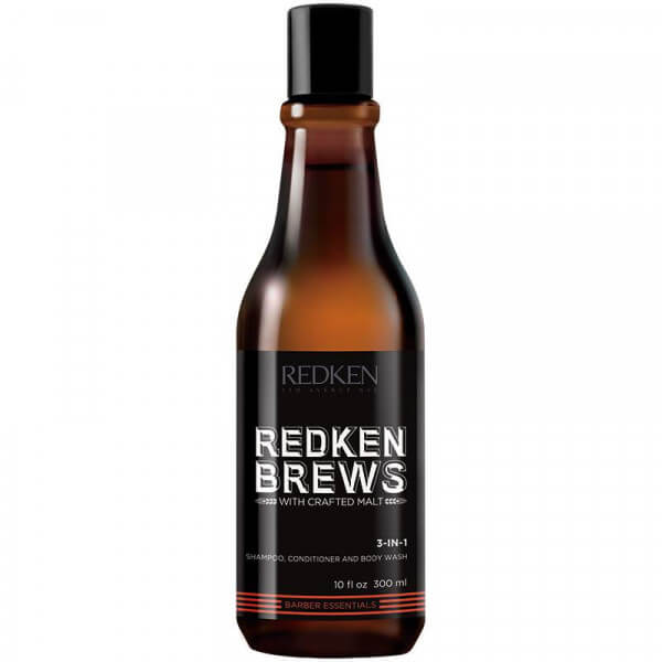brews 3-in-1 redken shampoo conditioner body wash