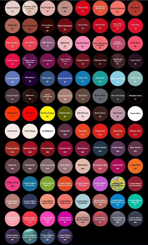 Striplac Farben