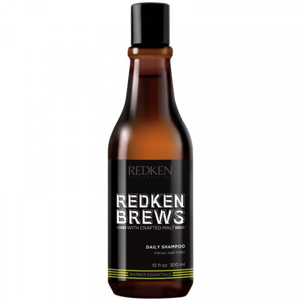 brews men daily shampoo redken