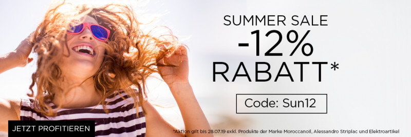 12% Rabatt Summer Sale