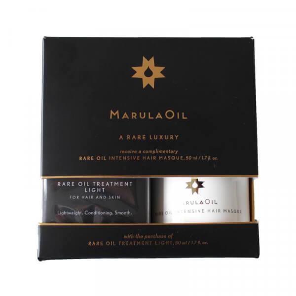 MarulaOil Rare Treatment Light & gratis Intensive Hair Masque