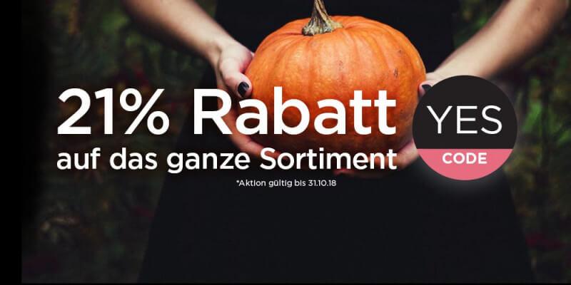 Halloween 21 Prozent Rabatt