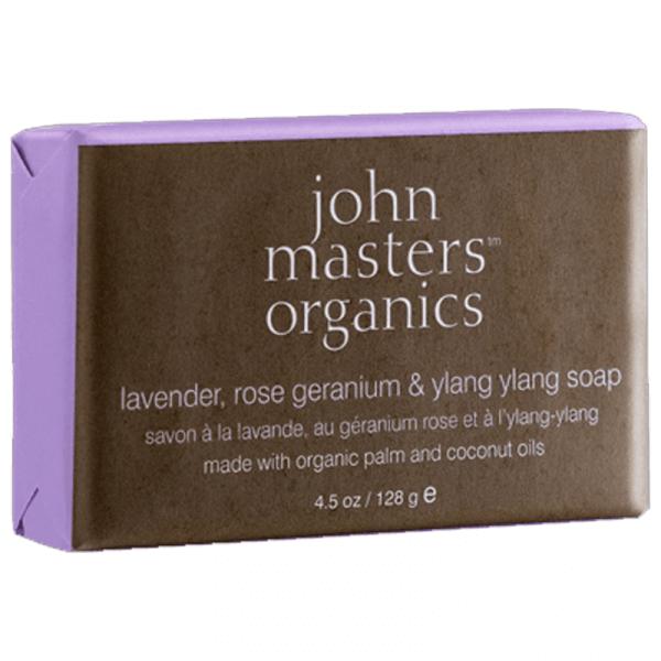 John Master's Organics Lavender Rose Geranium & Ylang Ylang Soap