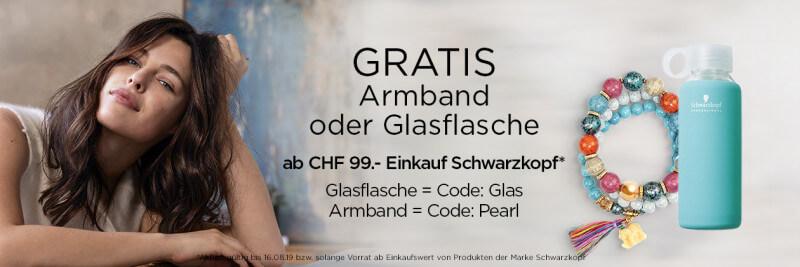 Aktion gratis Armband oder Glasflasche