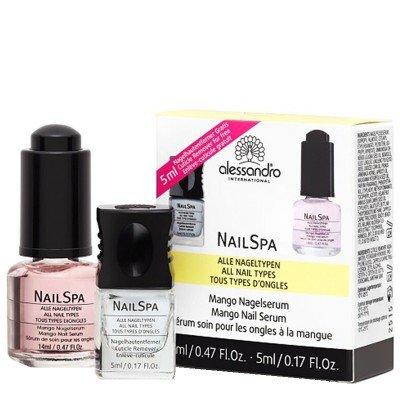 Alessandro Nailspa Set: Mango Nail Serum (14ml) mit gratis Nagelhautentferner (5ml)