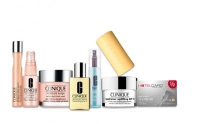 Clinique Luxus Geschenk Set mit GRATIS Hotelcard