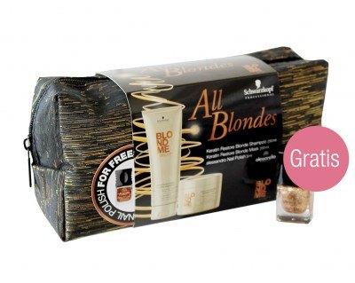 BLONDME All Blondes Geschenk Set mit gratis alessandro Nagellack