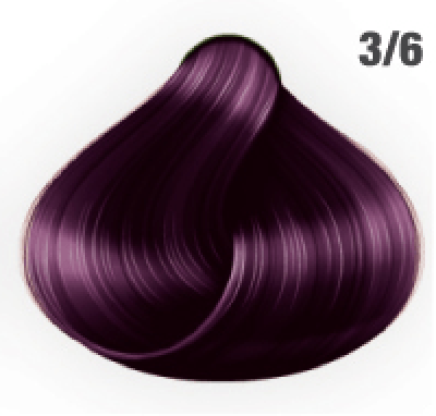 Silky Shine 3/6 Dunkelbraun Violett